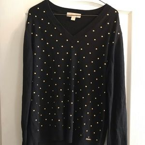 Micheal Kors Black Sweater with gold studs